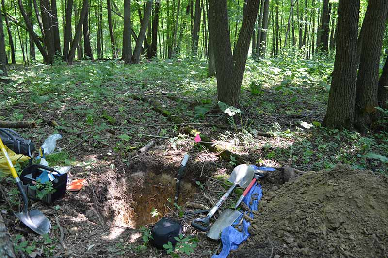 Soil pit in northern Minnesota